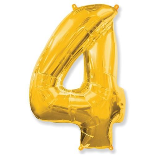 Цифра 4 gold (100см)