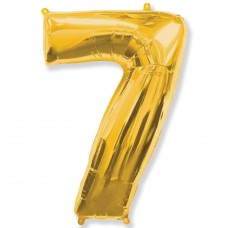 Цифра 7 gold (100см)