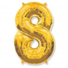 Цифра 8 gold (100см)
