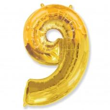 Цифра 9 gold (100см)