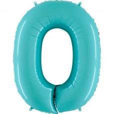 Цифра G 0 пастель аквамарин (100см)