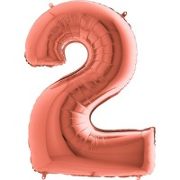 Цифра G 2 металік рожеве золото (100см)
