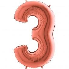 Цифра G 3 металік рожеве золото (100см)