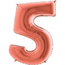 Цифра G 5 металік рожеве золото (100см)