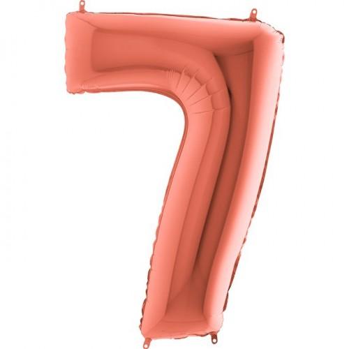 Цифра G 7 металлик розовое золото (100см)