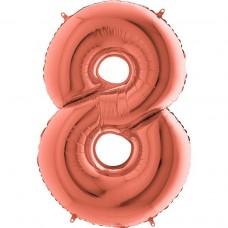 Цифра G 8 металік рожеве золото (100см)