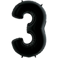 Цифра G 3 чорна (100см)