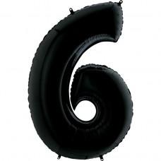 Цифра G 6 чорна (100см)