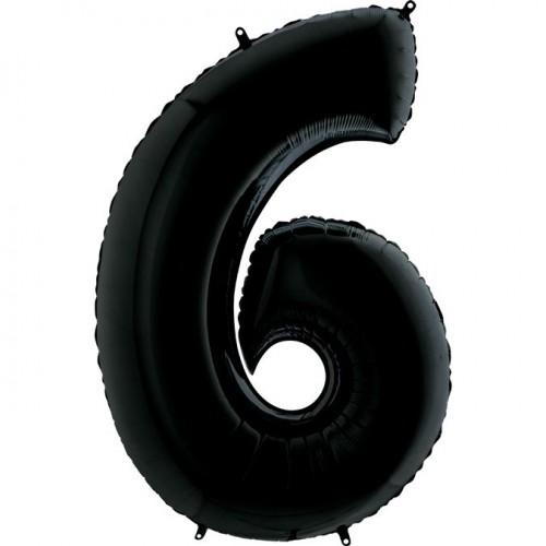 Цифра G 6 черная (100см)