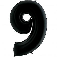Цифра G 9 черная (100см)