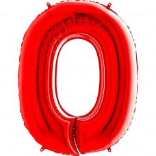 Цифра G 0 червона (100см)