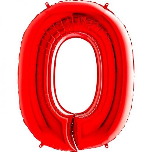 Цифра G 0 красная (100см)