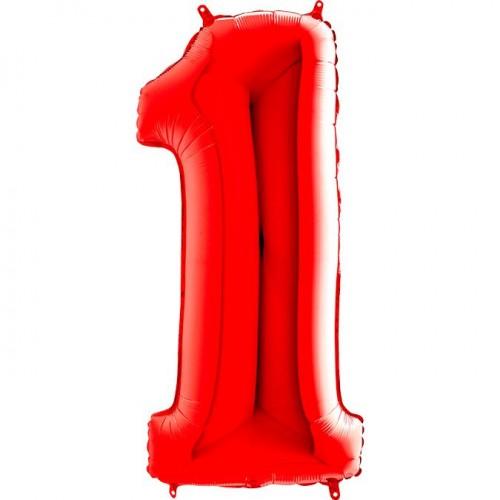 Цифра G 1 красная (100см)