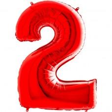 Цифра G 2 червона (100см)