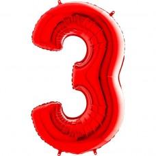 Цифра G 3 червона (100см)