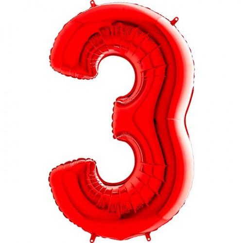 Цифра G 3 красная (100см)