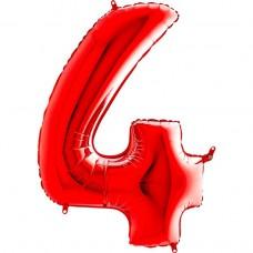 Цифра G 4 червона (100см)