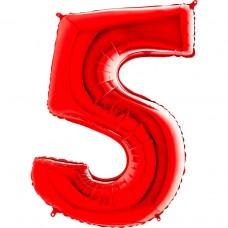 Цифра G 5 червона (100см)