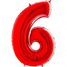 Цифра G 6 червона (100см)