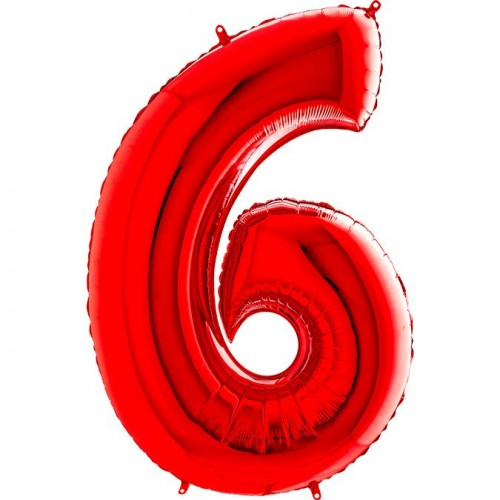 Цифра G 6 красная (100см)