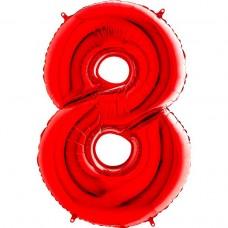 Цифра G 8 красная (100см)