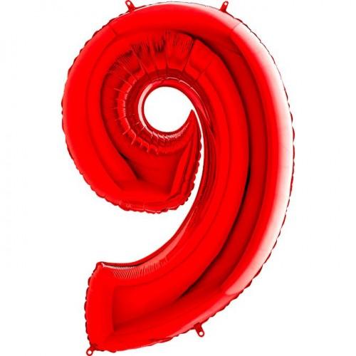 Цифра G 9 красная (100см)