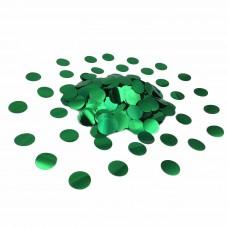 Конфетти кружочки зеленые металлик (23мм) 50гр