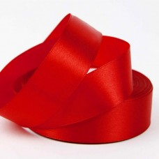 Лента АТЛАС красная 2,5 см х 23м