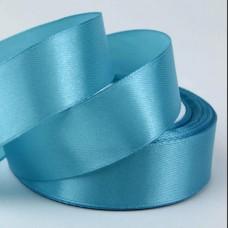 Лента АТЛАС голубая 2,5 см х 23м
