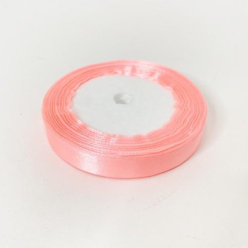 Лента АТЛАС розовая 1,2 см х 23м