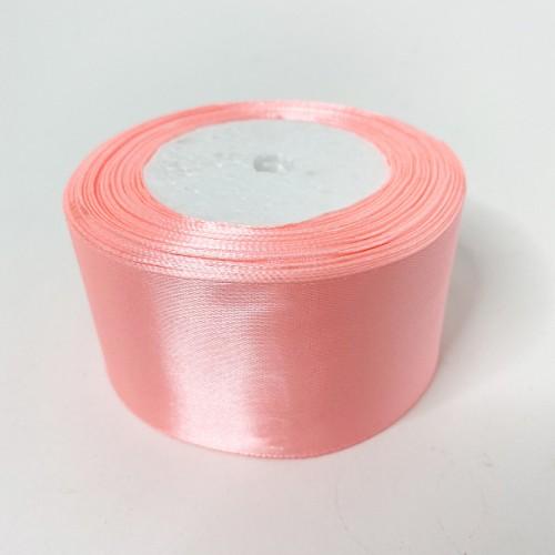 Лента АТЛАС розовая 5 см х 23м