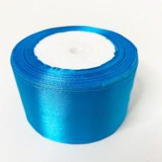Лента АТЛАС 5 см х 23м голубая
