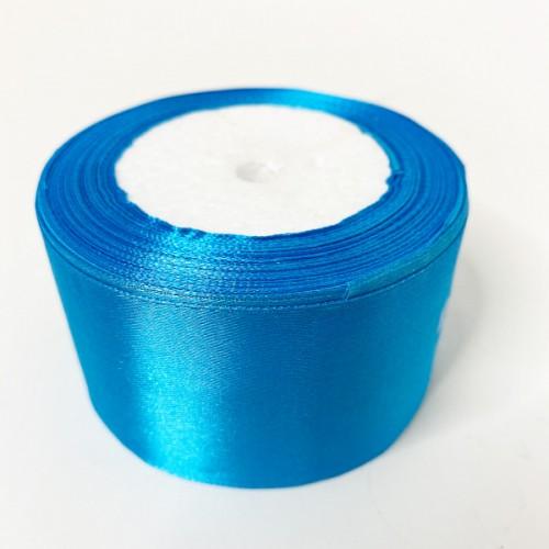 Лента АТЛАС голубая 5 см х 23м