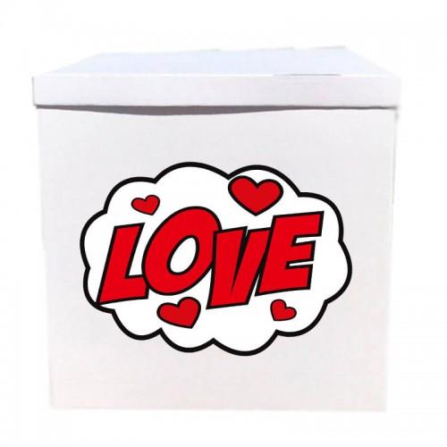 Наклейка на коробку LOVE (50см)