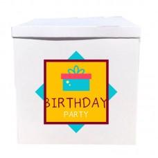 Наклейка на коробку Birthday party (50см)