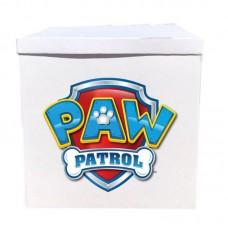 Наклейка на коробку щенячий патруль значек (50см)