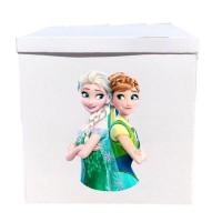Наклейка на коробку Анна і Ельза (50см)
