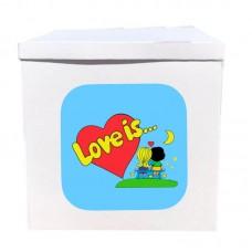 Наклейка на коробку Love is под луной (50см)