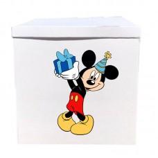 Наклейка на коробку Микки с подарком (50см)