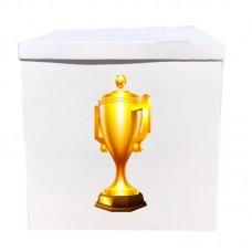 Наклейка на коробку золотой кубок (50см)
