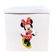 Наклейка на коробку Минни в красном (50см)