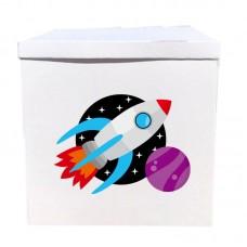 Наклейка на коробку космос (50см)