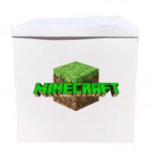 Наклейка на коробку Майнкрафт блок (50см)