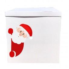 Наклейка на коробку Дед Мороз (50см)