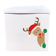 Наклейка на коробку Новогодний олень (50см)