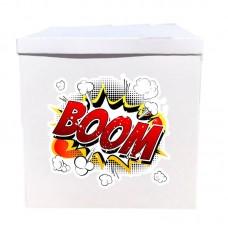 Наклейка на коробку Буум (50см)