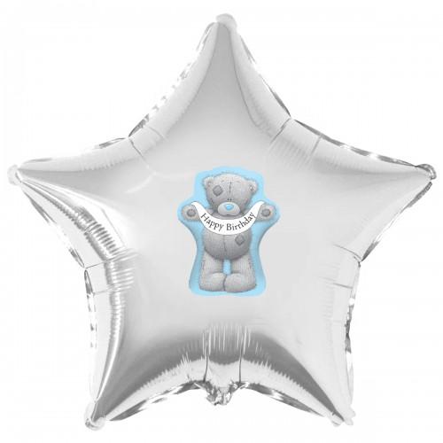 """Наклейка цветная мишка Тедди HB на шар 18"""" (45см)"""