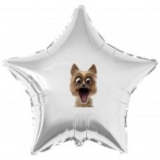 """Наклейка кольорова собака-удівляка на кулю 18 """"(45см)"""