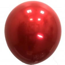 """12"""" (30см) Кулька латексна Даблстафф Хром ЧЕРВОНИЙ (10шт)"""
