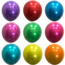 """12"""" (30см) Кулька латексна Даблстафф Хром АСОРТІ (9шт)"""